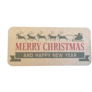 christmas vintage kraft sticker