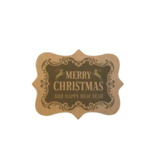 christmas vintage kraft sticker