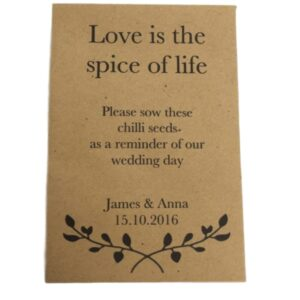 chilli seed favour