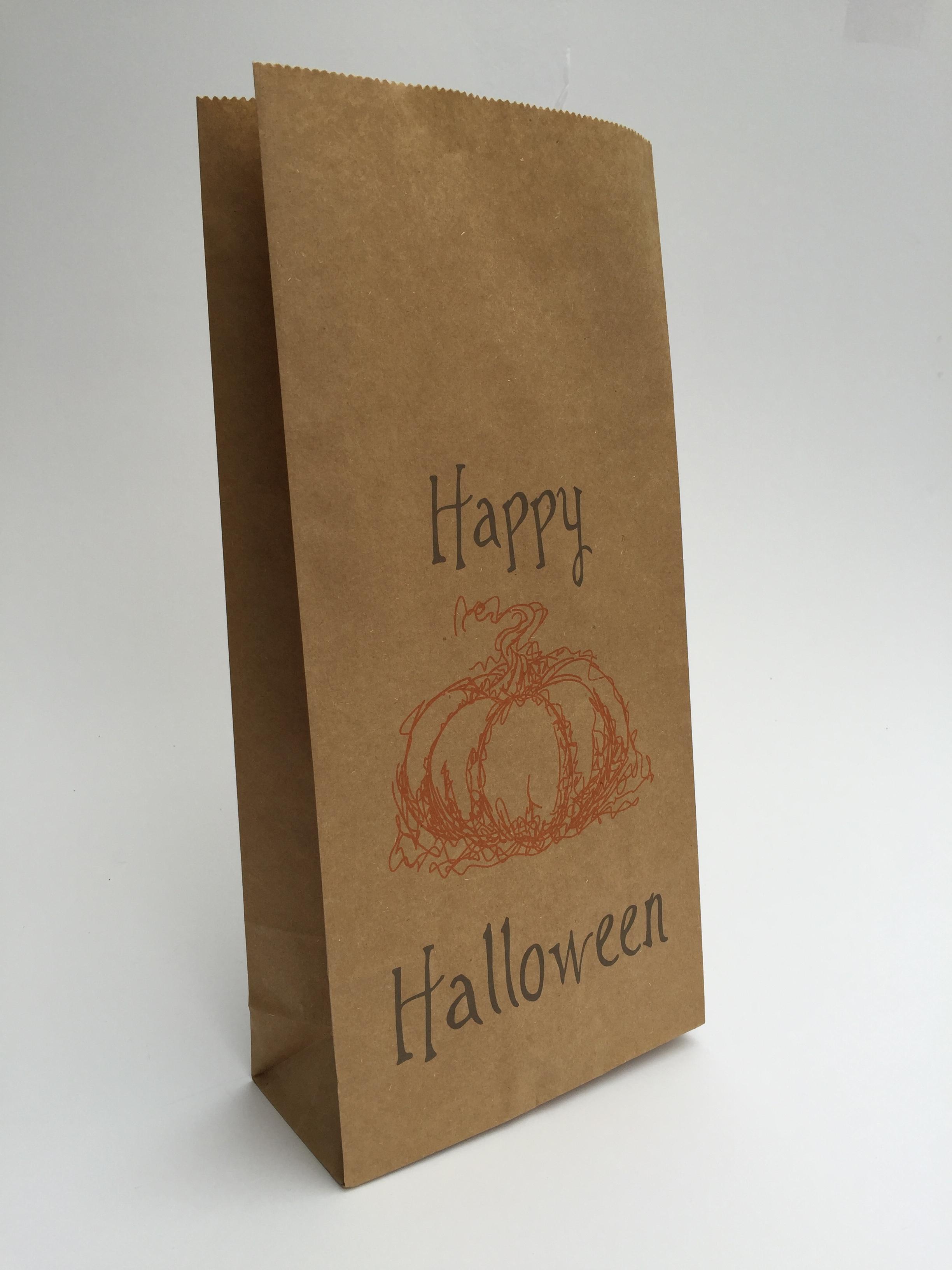 Vintage kraft halloween party bag