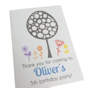 birthday seed packet