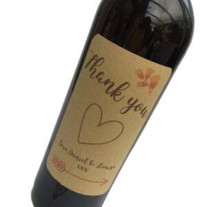 kraft personalised wine sticker