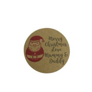 santa sticker personalised