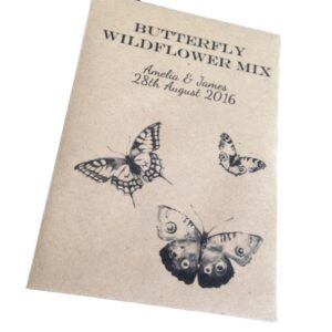 butterfly wildflower favour