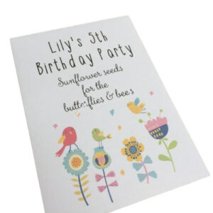 birthday seed party bag gift