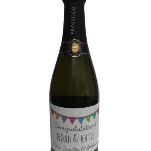 congratulation personalised wine bottle sticker