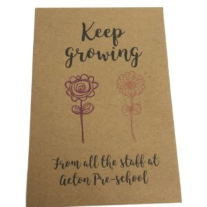 keep growing teacher seed packet