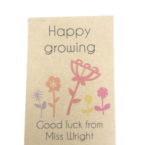 HAPPY growing teacher seed packet
