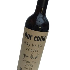 funny teacher wine bottle personalised