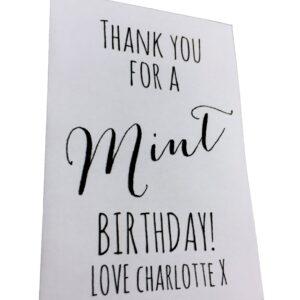 mint birthday favour