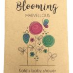blooming marvellous baby shower seed packet